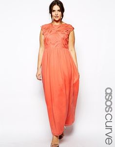 ASOS CURVE Kate Lace Maxi Dress with Flutter Sleeves - to make ...