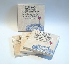 Love and a Bicycle  wedding or party by LaughingTaffyCoaster, $320.00