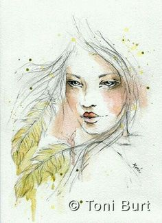 Yellowed feathers