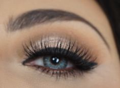 ig: @rebekah_ellie  Soft glam eye makeup. Mink lashes. Eotd. Eyeshadow false lashes wing eyeliner