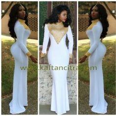 New High neck Beaded arabic evening gowns White And gold muslim prom  dresses dubai kaftan long sleeve mermaid abaya custom made 00575f09c380