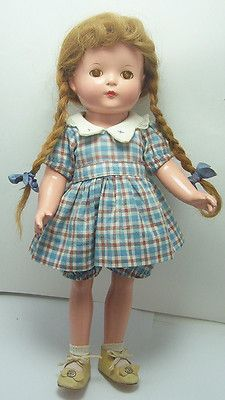 "Vintage Effanbee Composition Patricia Patsy Doll -14"" with Original Clothes"