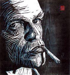 Deze vind ik ook erg gaaf! Je ziet duidelijk de lijnen lopen en je ziet goed zo emotie namelijk: dat die een peuk loopt te roken en dat alles op zijn rolletjes gaat!