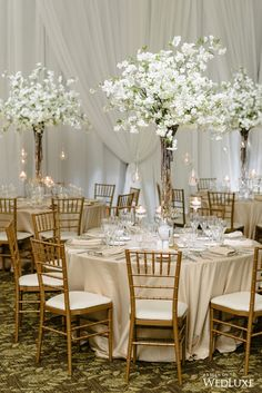 46 tall wedding centerpieces on your big day 28 romantic wedding centerpieces that are sure to inspire Romantic Wedding Centerpieces, Wedding Table Centerpieces, Wedding Decorations, Centerpiece Ideas, Centerpiece Flowers, Cherry Blossom Centerpiece, Floral Wedding, Wedding Flowers, Trendy Wedding