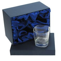 Personalised Jack Daniels Square Glass No7 in Satin Lined Box - £19.99