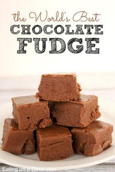 World's Best Chocolate Fudge Recipe