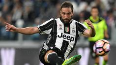 Gonzalo Higuain Photos - Gonzalo Higuain of Juventus FC kicks the ball during the Serie A match between Juventus FC and Cagliari Calcio at Juventus Stadium on September 2016 in Turin, Italy. - Juventus FC v Cagliari Calcio - Serie A Juventus Stadium, Juventus Fc, Cycling Backpack, Euro, Bicycle Bag, Cycling Gloves, Funny Slogans, Sports Equipment, Turin Italy