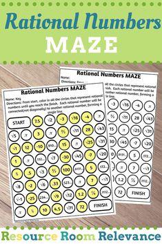 Teaching 6th Grade, 8th Grade Math, Teaching Math, Math Resources, Math Activities, Math Games, Math Reference Sheet, Real Number System, Fun Math