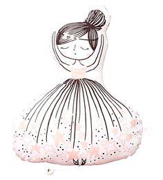 LITTLE CLOUD Musical ballerina cushion (Poppy