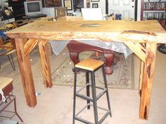 Cedar Slab Shelf Mantle