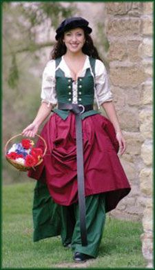 $250 Market Wench Complete Costume: Renaissance Clothing and Medieval Costumes by Elizabethan Outfitters