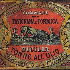 Art Nouveau, Liberty, Palermo, Sicily, Flora, Illustration, Antiques, Artist, Poster