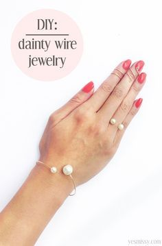 DIY some trendy wire jewelry in the style of your fave beauty blogger! Repin and click for the tutorial, then go get your hands on some wire!