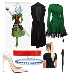 Vados dragon ball super by kbykiewicz on Polyvore featuring polyvore мода style WithChic Doriane van Overeem Christian Louboutin Alexander McQueen Pasotti Ombrelli fashion clothing