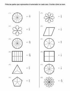 2nd Grade Math Worksheets, Fractions Worksheets, Math Fractions, Preschool Worksheets, Math Activities, Math For Kids, Fun Math, English Worksheets For Kids, Eureka Math