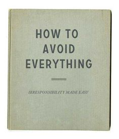 how to avoid everything, vintage book