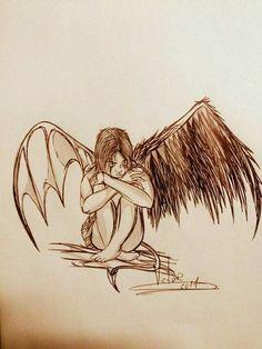 Desenho finalizado ANGEL IS DEMON