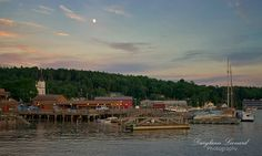 A quiet evening settles in over Boothbay Harbor, #Maine.  Photo by Darylann Leonard Photography