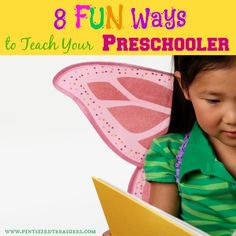 Learning can be FUN! Use these creative ideas to teach your preschooler basic concepts such as counting, letters, shapes and colors. Le the fun and the learning begin! #preschool #teachingkids #learning www.pintsizedtreasures.com