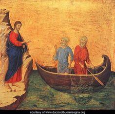 Calling Peter and Andrew, Duccio Di Buoninsegna, 1308.