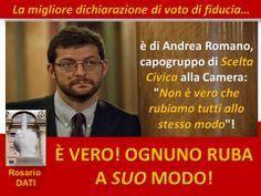 La migliore sentita nel dibattito sulla fiducia al Governo Renzi...