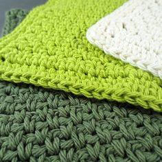Green Queen Cotton Crochet Dishcloth Set from Purple Kiss Company ♥ #Crochet