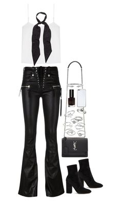"""""""Untitled #1725"""" by breannaflorence on Polyvore featuring Unravel, Valentino, Yves Saint Laurent, T By Alexander Wang, Candie's, ChloBo, King Baby Studio, Rockins, Bobbi Brown Cosmetics and Valentine Goods"""