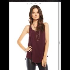 Chaser silk drape back tank Worn once Chaser Tops Tank Tops