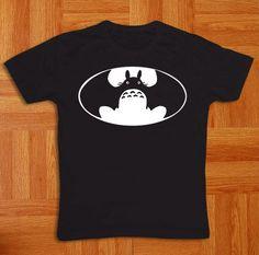 Batman-totoro-LOGO-Black-cotton-Black-t-shirt-1q1w2-all-size