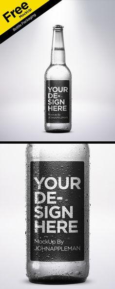 Free PSD MockUp Bottle Packaging on Behance