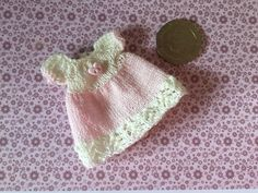 Miniature 1/12th dolls house hand knitted toddler doll dress | eBay