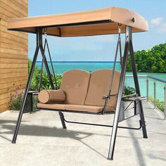 @#! 3-Seat/2-Seat Deluxe Outdoor Patio Porch Swing Garden Seat...