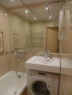 Ideas For Bathroom Diy Wall Laundry Rooms Diy Bathroom, Bathroom Tub, Trendy Bathroom, Dream Laundry Room, Diy Bathroom Remodel, Bathroom, Bathroom Wallpaper Modern, Bathrooms Remodel, Bathroom Inspiration