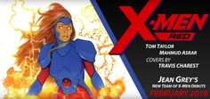 Jean Grey Sports New Costume Takes Lead In X-Men Red  Marvel Comics revealed that Jean Grey will star in a new comic book series featuring her own team called X-Men Red. Out in February 2017 the series will be written by Tom Taylor with art by Mahmud Asrar and covers by Travis Charest.  Jean will also have a new costume that hearkens back to her '90s look.  Given all the fire it's possible she'll retain her Phoenix powers after her return in Phoenix Resurrection: The Return of Jean Grey a…