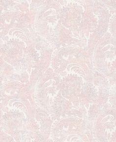 Galerie Pretty Paisley Pink / Grey Wallpaper main image