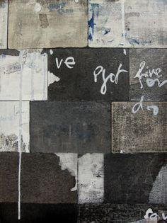 Melinda Schawel.  Reinventing Yourself 2009 collage, ink, wax on wood