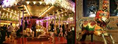 La Musée d'Arts Forains in Paris - museum of old carnival stuff only opened for private parties and coctails. so cool.