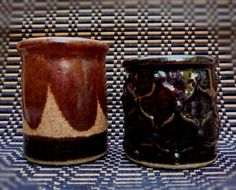 Chocolate Brown  Miniature Pot  Stoneware Pottery by sugargrovepottery on etsy. $14.00, via Etsy.