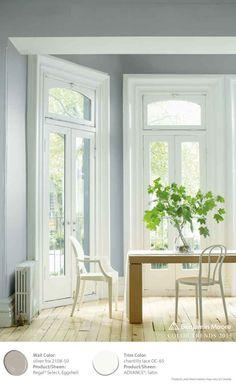"""Silver Fox Benjamin Moore""""s Regal Select Waterborne Interior Paint."""