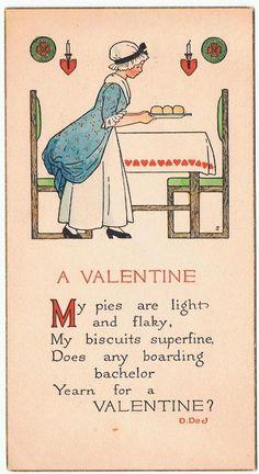 Vintage Valentines Day Card Rust Craft Signed D.DeJ Vintage