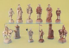 """A late-19th century French ivory figural set, on the theme of """"The Field of the Cloth of Gold"""", the famous extravagant meeting of King Henry VIII of England and Francois I of France near Calais in 1520."""