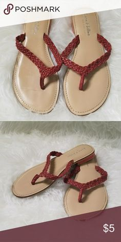 2a165a69b5b Sandals Dressier flip flop style sandals featuring braided straps and  coordinating red-orange detailing on. Poshmark