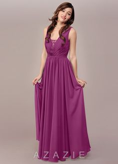 Shop Azazie Bridesmaid Dress - Ellen in Chiffon. Find the perfect made-to-order bridesmaid dresses for your bridal party in your favorite color, style and fabric at Azazie.