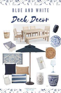 Outdoor Deck Decorating, Patio Decorating Ideas On A Budget, Porch Decorating, Patio Ideas, Outdoor Decor, Deck Seating, Deck Table, Seating Areas, Outdoor Living Areas