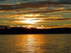 Sunrise at the Ammersee in Bavaria, Germany.
