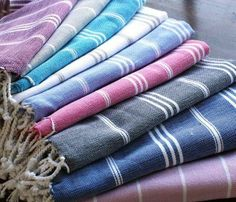Turkish Hammam Towels   Used in the Turkish baths for centuries, 'Peshtemal' is a traditional Turkish towel, absorbs water as fast as towels, dries five times quicker and are extremely lightweight and easy to carry in your bag, luggage or storage.