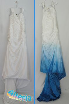 Ombre fade on this beautiful wedding gown by Alteria - Coloring Solutions for your Clothing! Visit www.alteriaonline.com