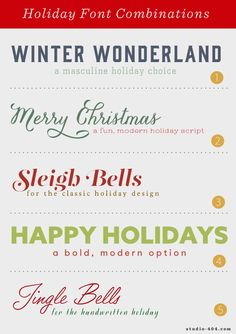 Holiday Font Combinations