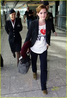 Emma Watson in Junk Food's I love NY tee  Buy it here!  http://www.junkfoodclothing.com/webapp/wcs/stores/servlet/Product1_10052_10051_-1_19396