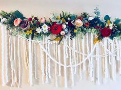 Wildflower Garland, Floral Garland, Boho Flower Garland, Wedding Garland, Floral Wall Hanging, Party Decor Garland, Boho Home Decor, Garland by BlairBaileyDesign on Etsy https://www.etsy.com/listing/574654828/wildflower-garland-floral-garland-boho